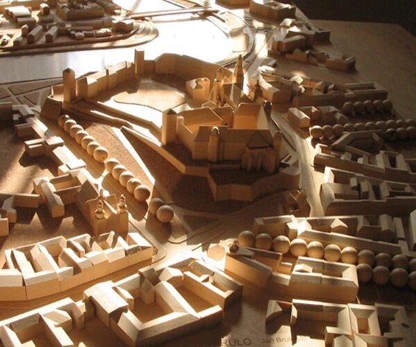 Fragment Krakowa z Wawelem